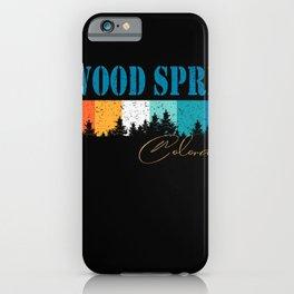 Colorado Vintage Bellevue Glenwood Springs USA Retro 80s 90s iPhone Case