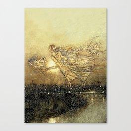 """Fairies in Kensington Gardens"" by Arthur Rackham Canvas Print"