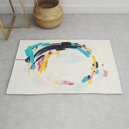 Yesterday to Tomorrow - abstract painting by Jen Sievers Rug