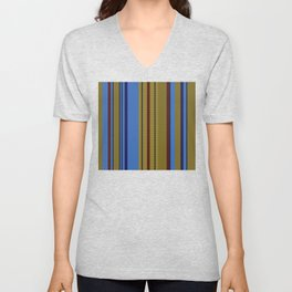 Vertical Stripes # 2 Unisex V-Neck