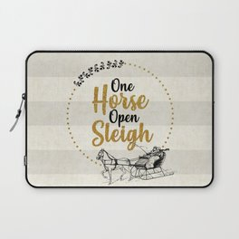 One Horse Open Sleigh Laptop Sleeve