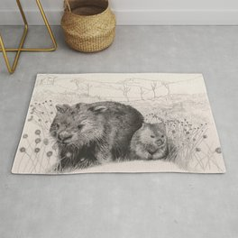 Path to wombat pool Rug
