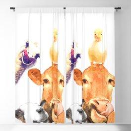 Farm Animal Friends Blackout Curtain