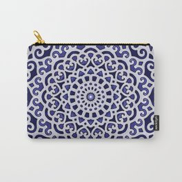 16 Fold Mandala in Blue Carry-All Pouch