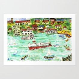 Day at the Harbor Art Print