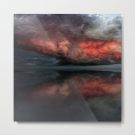 Red cloud reflect Metal Print