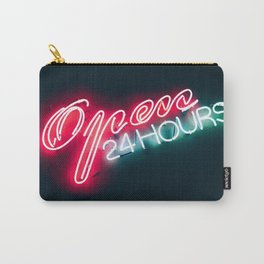 NEON OPEN 24 HOURS Carry-All Pouch