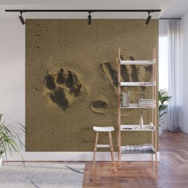 Best Friends Hand Prints - Man and Dog Wall Mural