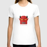 devil T-shirts featuring Devil by Adhikari Uttam