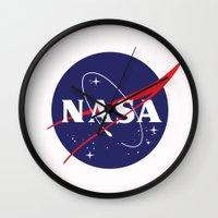 nasa Wall Clocks featuring I Need My Space NASA by NoHo