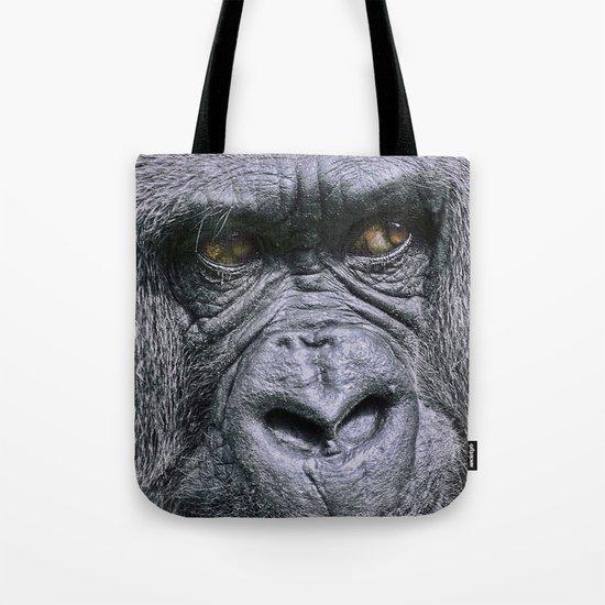 Portrait of a female Gorilla Tote Bag