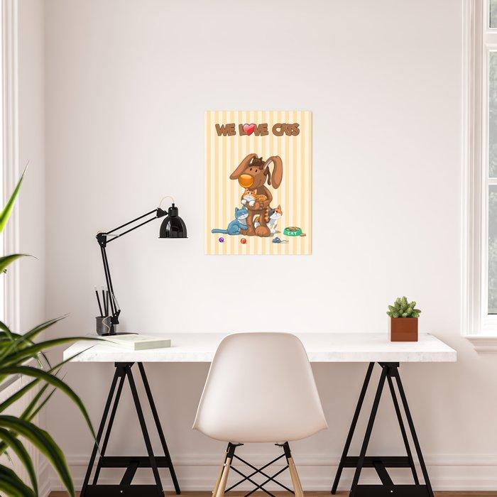 Rabbit catlover Poster