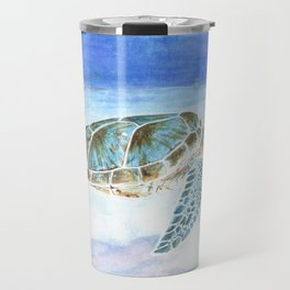 Sea turtle underwater Travel Mug