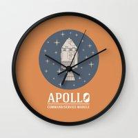 apollo Wall Clocks featuring Apollo V1 by Davide Rostirolla