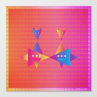 fleet foxes Canvas Prints featuring Music in Monogeometry : Fleet Foxes by Katrina Encanto