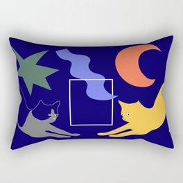 Cat Pose Rectangular Pillow