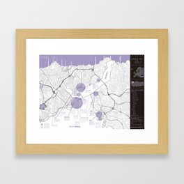 Istanbul travel map Framed Art Print
