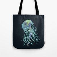 medusa Tote Bags featuring Medusa  by Daniac Design
