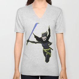 The Black Bat Unisex V-Neck