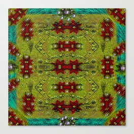 Shield of spice pop art and pattern Canvas Print