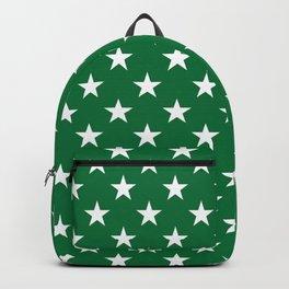 Stars (White & Olive Pattern) Backpack