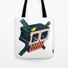 Brick Crossbones and a Bird Tote Bag