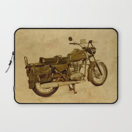 Ducat Condor 350 Militare 1973 old motorcycle Laptop Sleeve