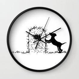 Hay Pup Wall Clock