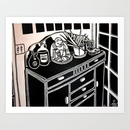 Still Life on my Buffet Art Print