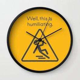 Schadenfreudian Slip Wall Clock