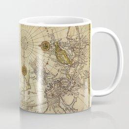 Map Of North Pole 1800 Coffee Mug