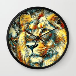 AnimalArt_Lion_20170606_by_JAMColorsSpecial Wall Clock