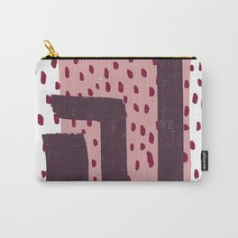 Modern Dots Between Lines Carry-All Pouch