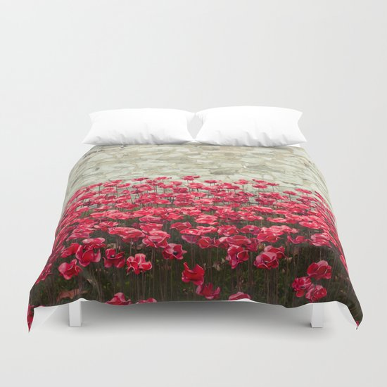 Tower Poppies 04A Duvet Cover