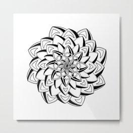 """""""Galant"""" - Handrawn Mandala Art Metal Print"""