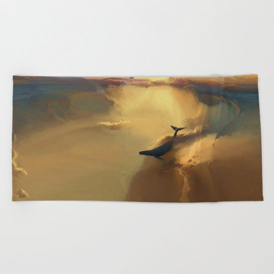 In the sea of gold Beach Towel