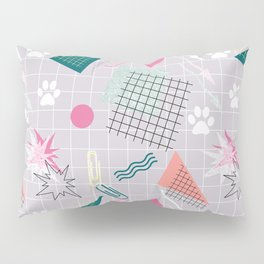 Memphis.Colorful retro pattern.2 Pillow Sham
