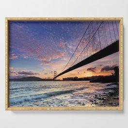 Sunset Bridge Serving Tray