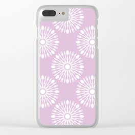 Kitchen cutlery purple Clear iPhone Case