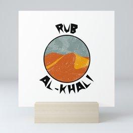 Rub Al-Khali  TShirt Deserts Shirt Sand Dune Gift Idea Mini Art Print