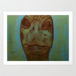Portrait of a Turtle Art Print