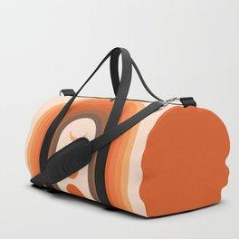 Mid Century Modern Geometric 23 (Rainbow and Moon Phases) Duffle Bag
