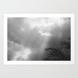 Dramatic Sunbeams #blackwhite Art Print