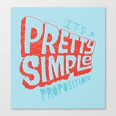 Pretty Simple Canvas Print