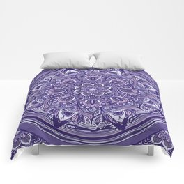 Great Purple Mandala Comforters