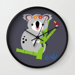 Lady Koala Wall Clock
