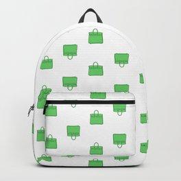 Green Birkin Vibes High Fashion Purse Illustration Backpack