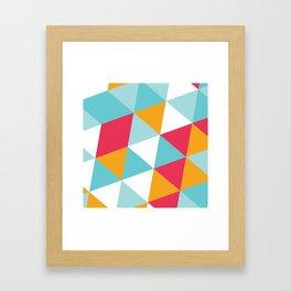 Tropical Triangles Framed Art Print