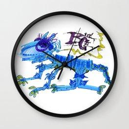 The Blue Cat Wall Clock