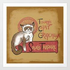Tournee du Chat Grincheux Art Print